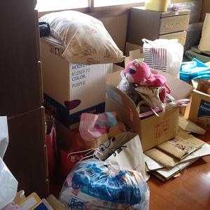 静岡県熱海市にて解体前の片付け
